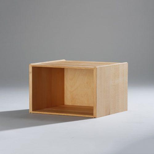 die Stapelbox - Stapelbox halbe höhe mit massiven Seiten