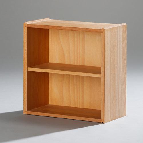 die Stapelbox - Halbe Stapelbox für CDs und Taschenbücher mit massiven Seiten